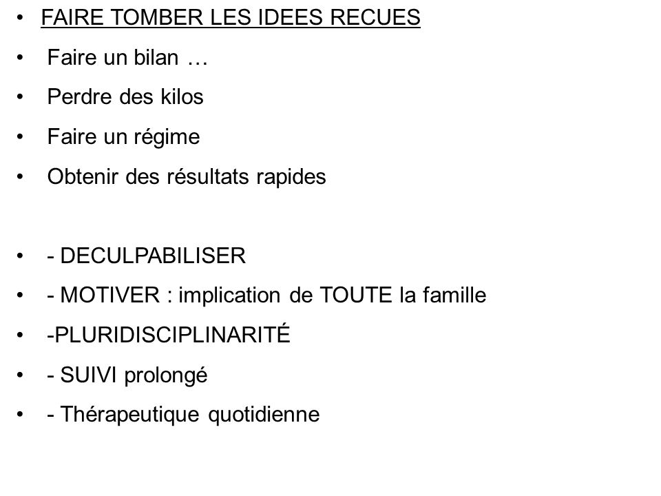 FAIRE TOMBER LES IDEES RECUES