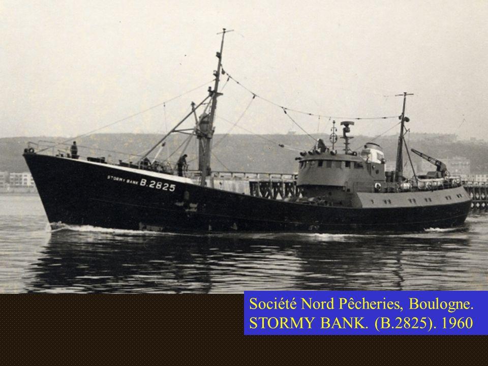 Société Nord Pêcheries, Boulogne. STORMY BANK. (B.2825). 1960