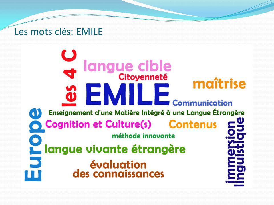 Les mots clés: EMILE