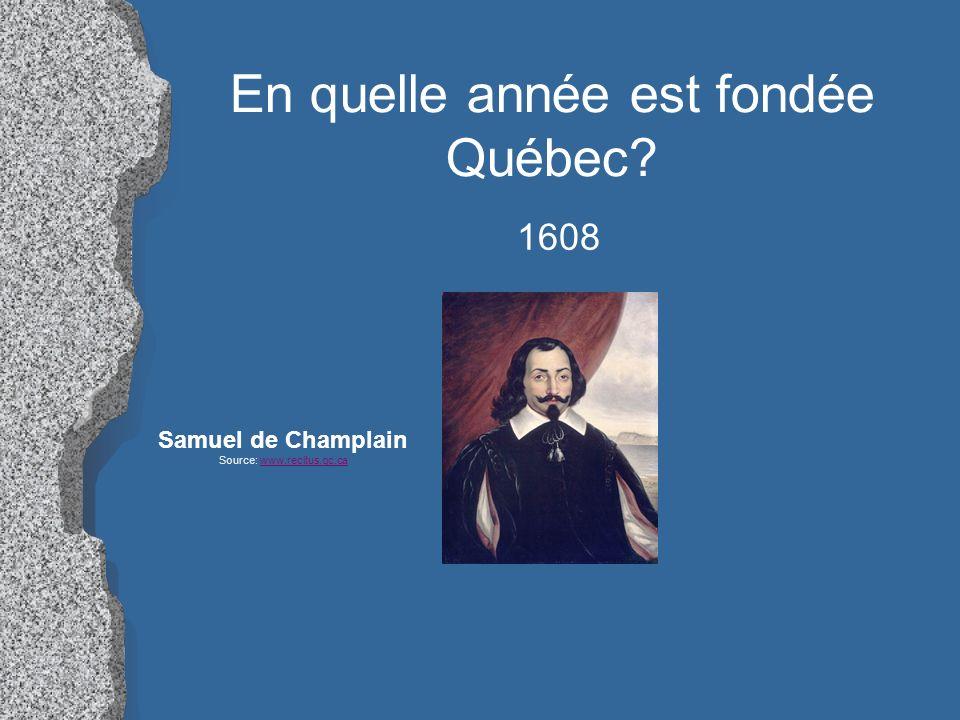 En quelle année est fondée Québec