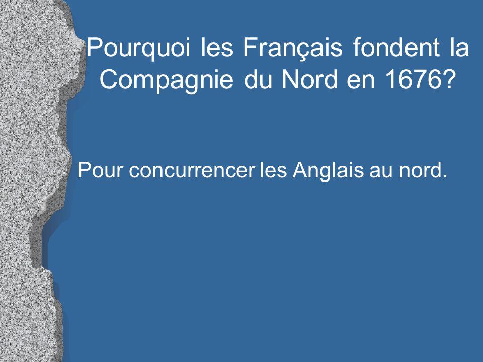 Pourquoi les Français fondent la Compagnie du Nord en 1676