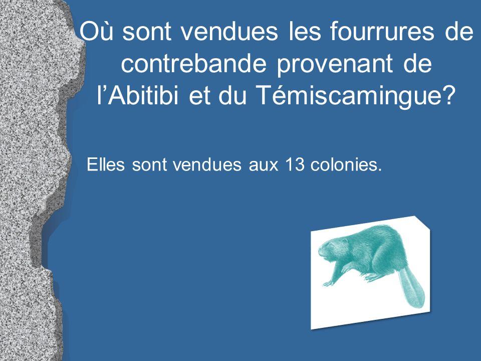 Où sont vendues les fourrures de contrebande provenant de l'Abitibi et du Témiscamingue