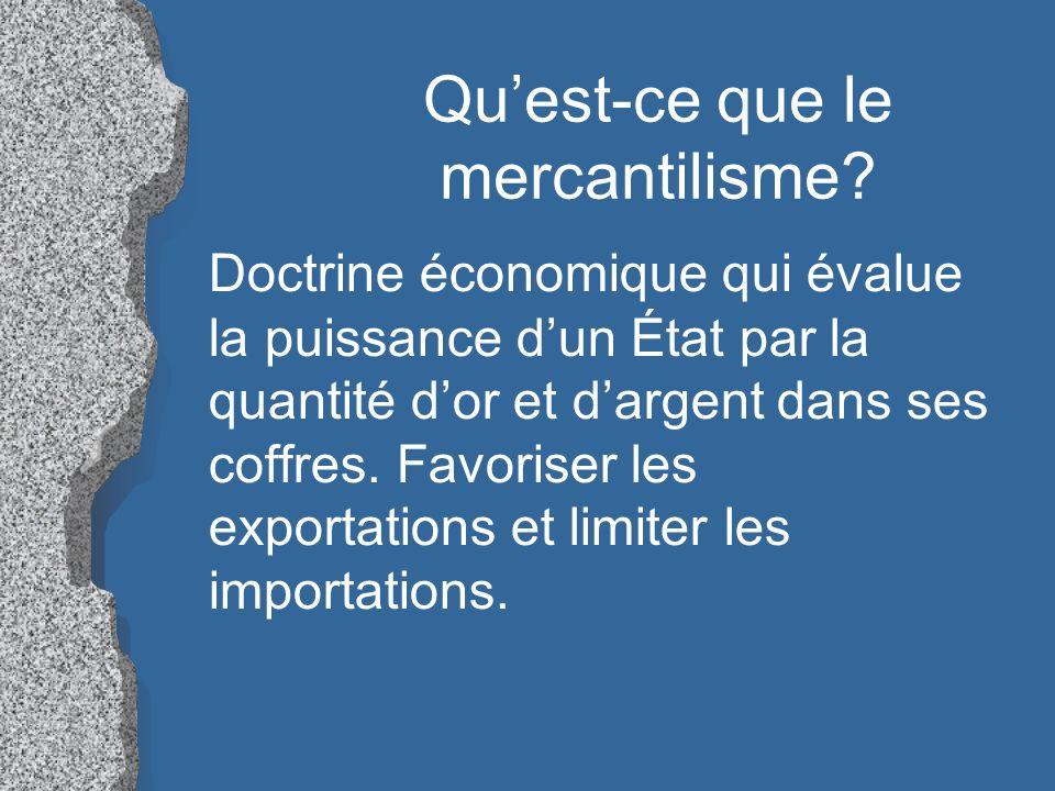 Qu'est-ce que le mercantilisme