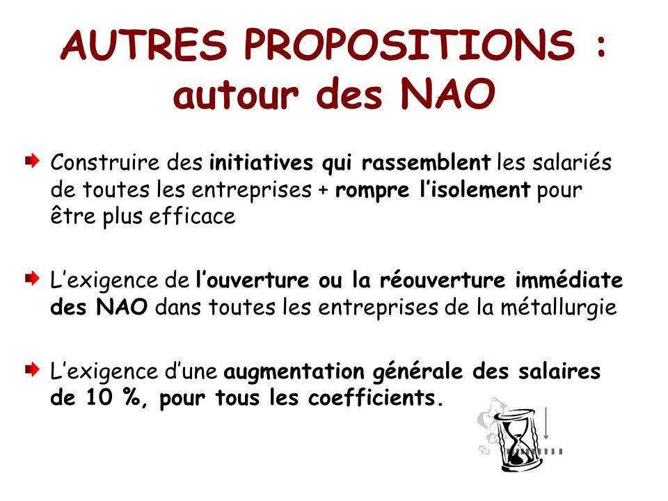 AUTRES PROPOSITIONS : autour des NAO