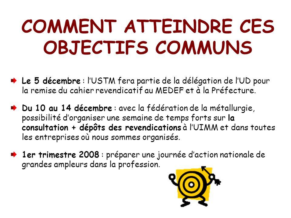 COMMENT ATTEINDRE CES OBJECTIFS COMMUNS