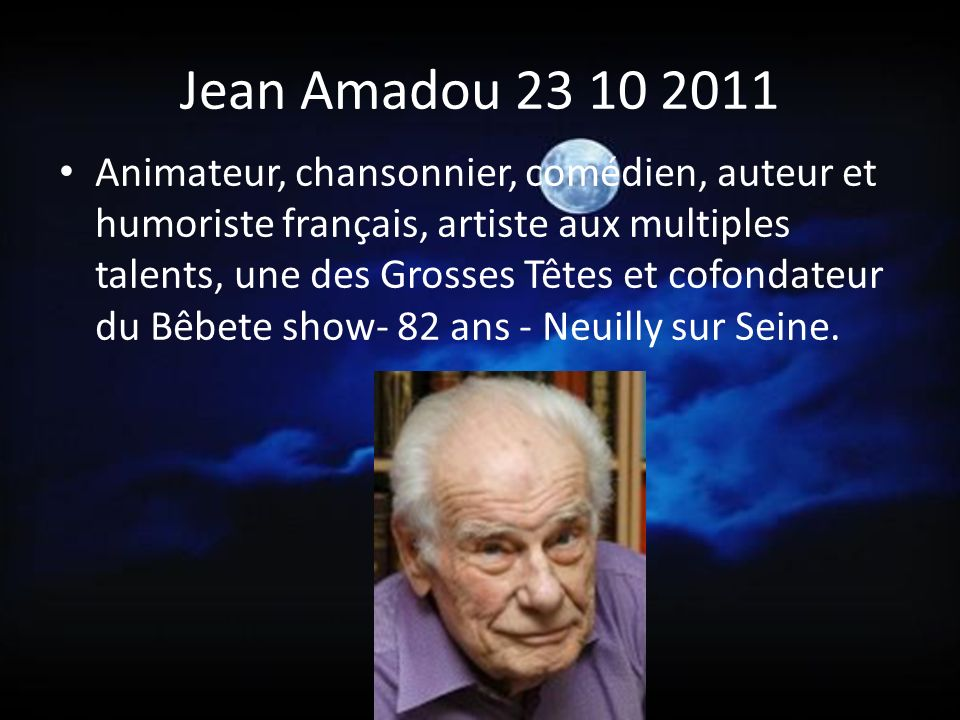 Jean Amadou 23 10 2011