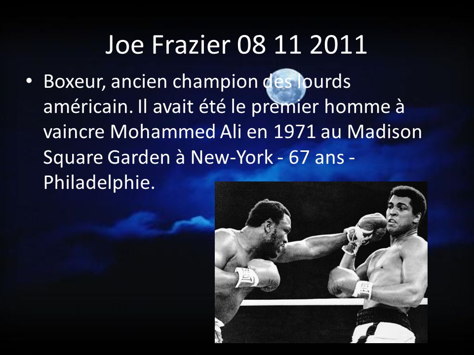 Joe Frazier 08 11 2011