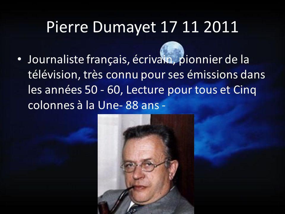 Pierre Dumayet 17 11 2011