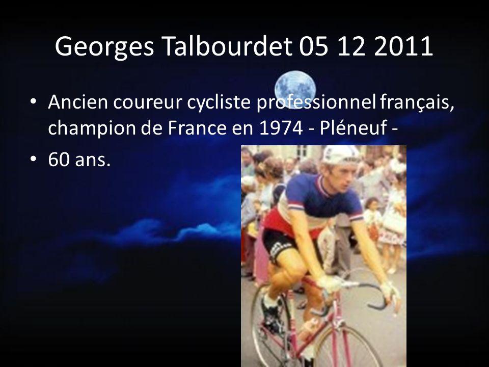 Georges Talbourdet 05 12 2011 Ancien coureur cycliste professionnel français, champion de France en 1974 - Pléneuf -