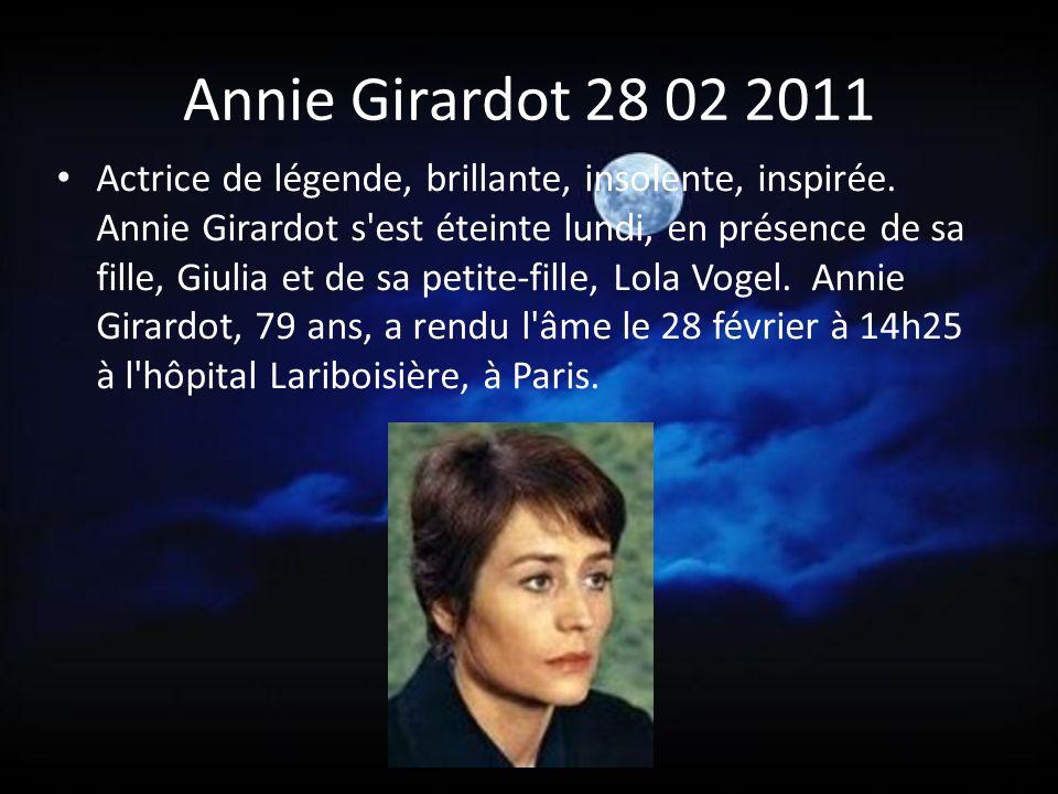 Annie Girardot 28 02 2011