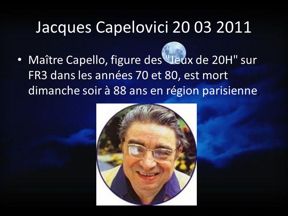 Jacques Capelovici 20 03 2011