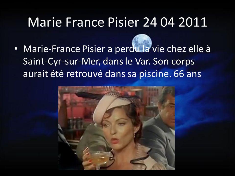 Marie France Pisier 24 04 2011