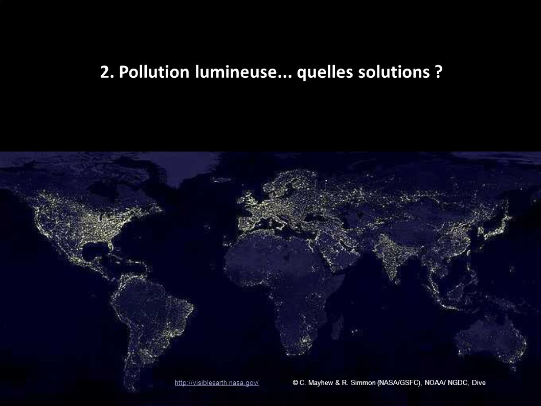 2. Pollution lumineuse... quelles solutions