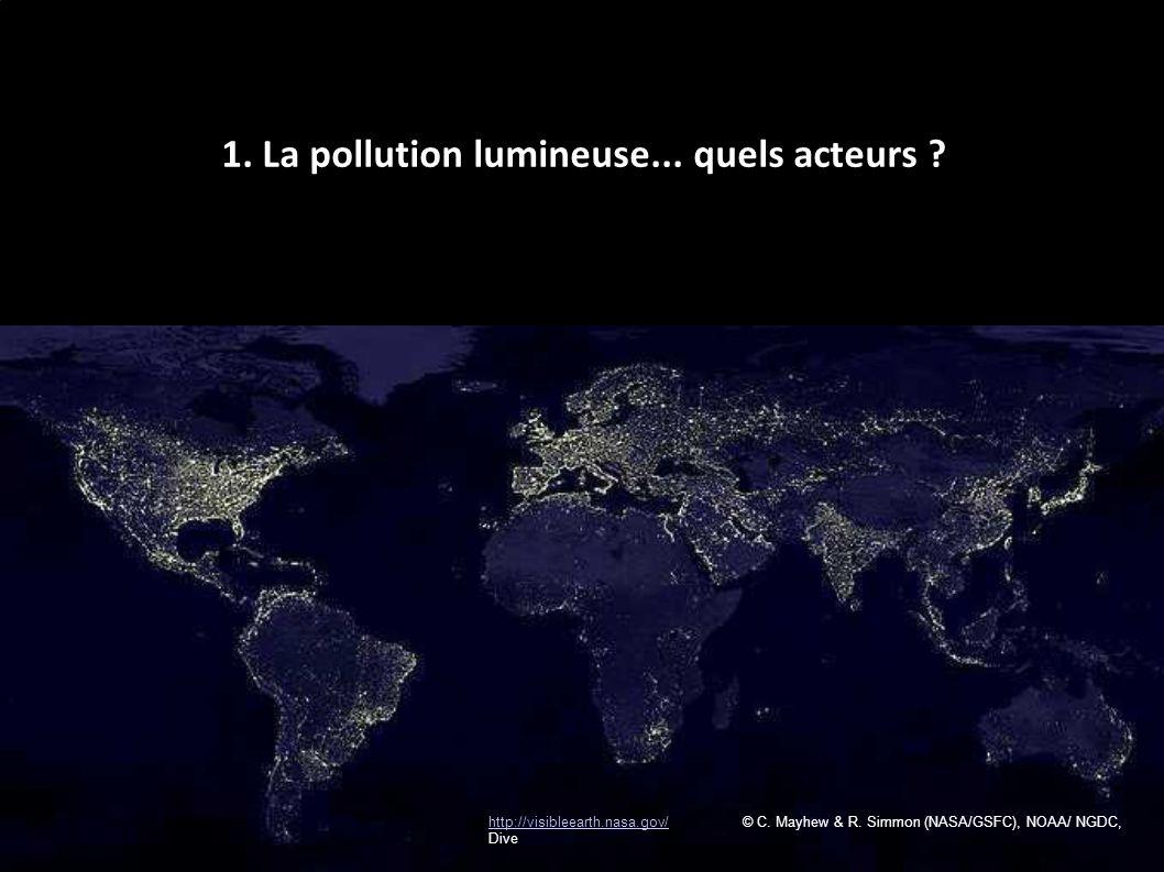 1. La pollution lumineuse... quels acteurs