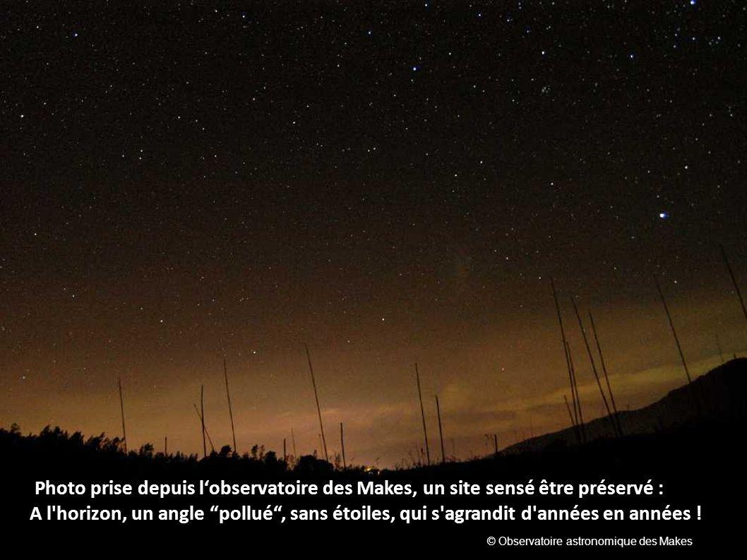 Photo prise depuis l'observatoire des Makes, un site sensé être préservé :