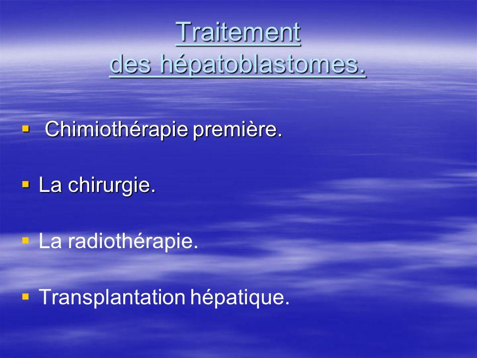 Traitement des hépatoblastomes.