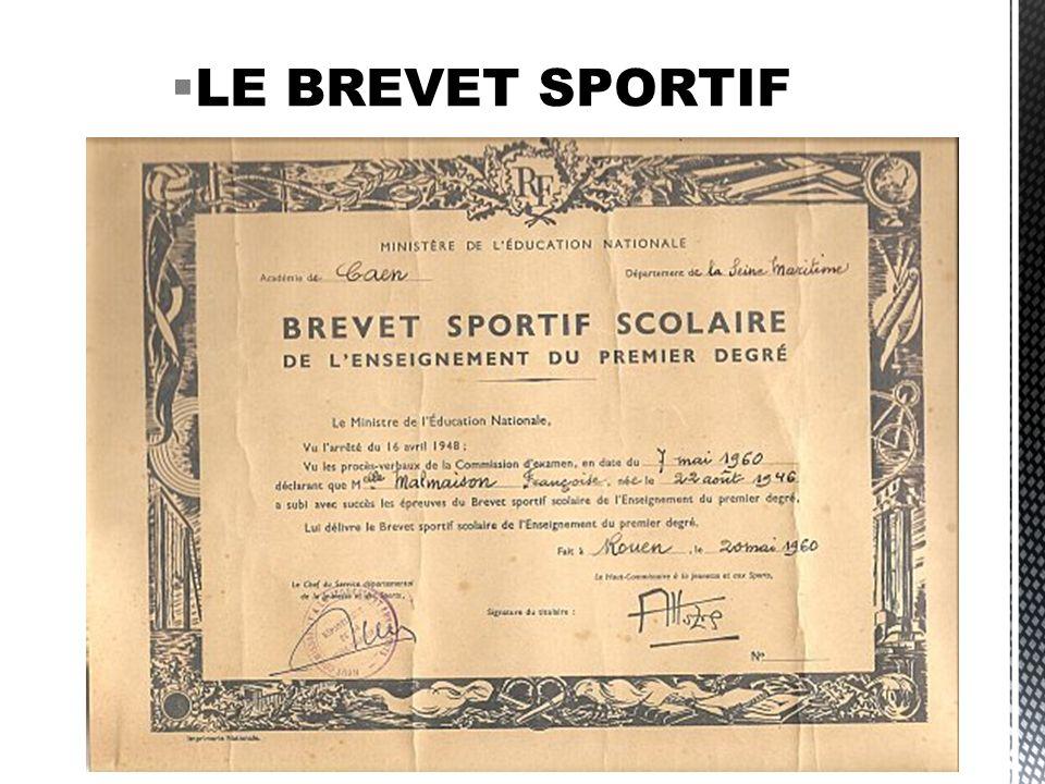 LE BREVET SPORTIF