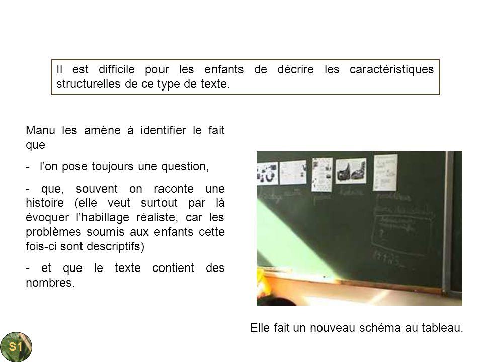 Il est difficile pour les enfants de décrire les caractéristiques structurelles de ce type de texte.