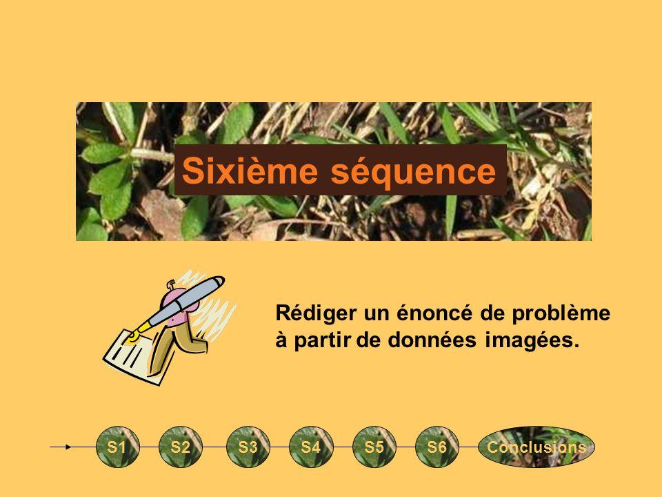 Sixième séquenceRédiger un énoncé de problème à partir de données imagées.