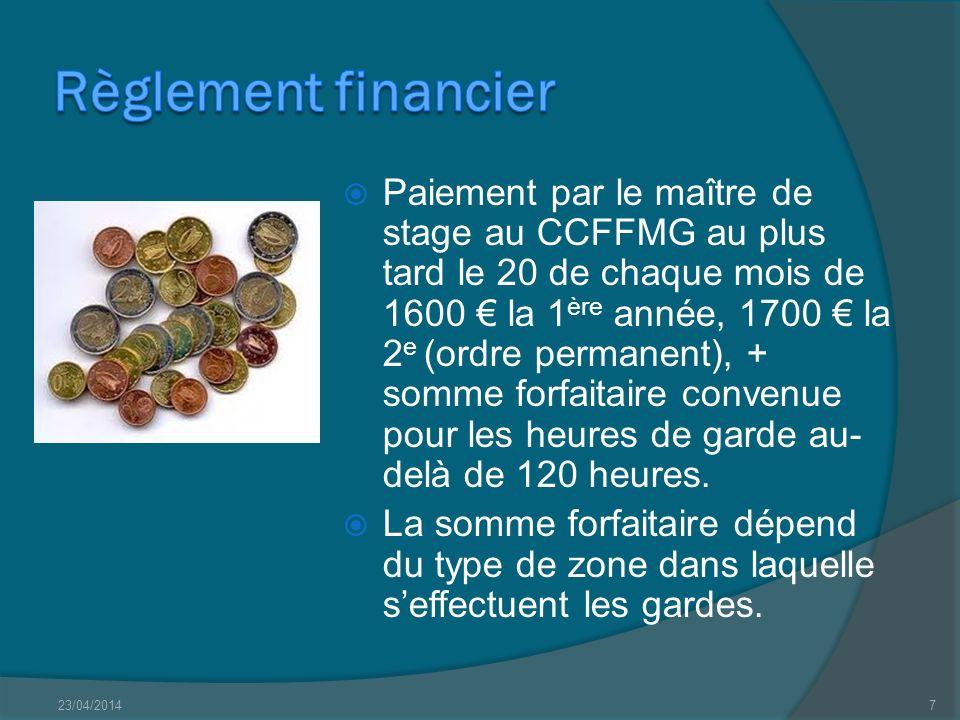 Règlement financier