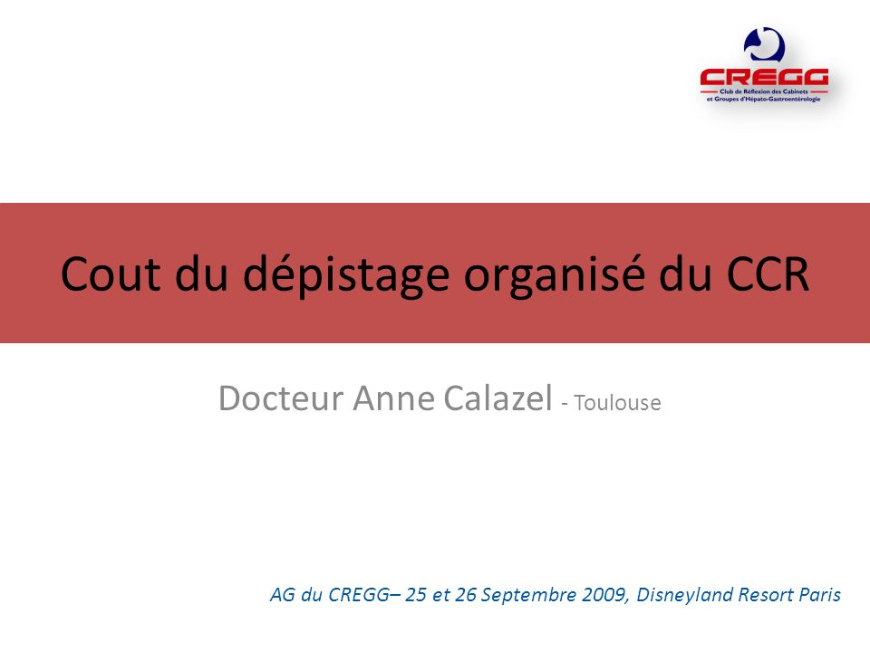 Cout du dépistage organisé du CCR
