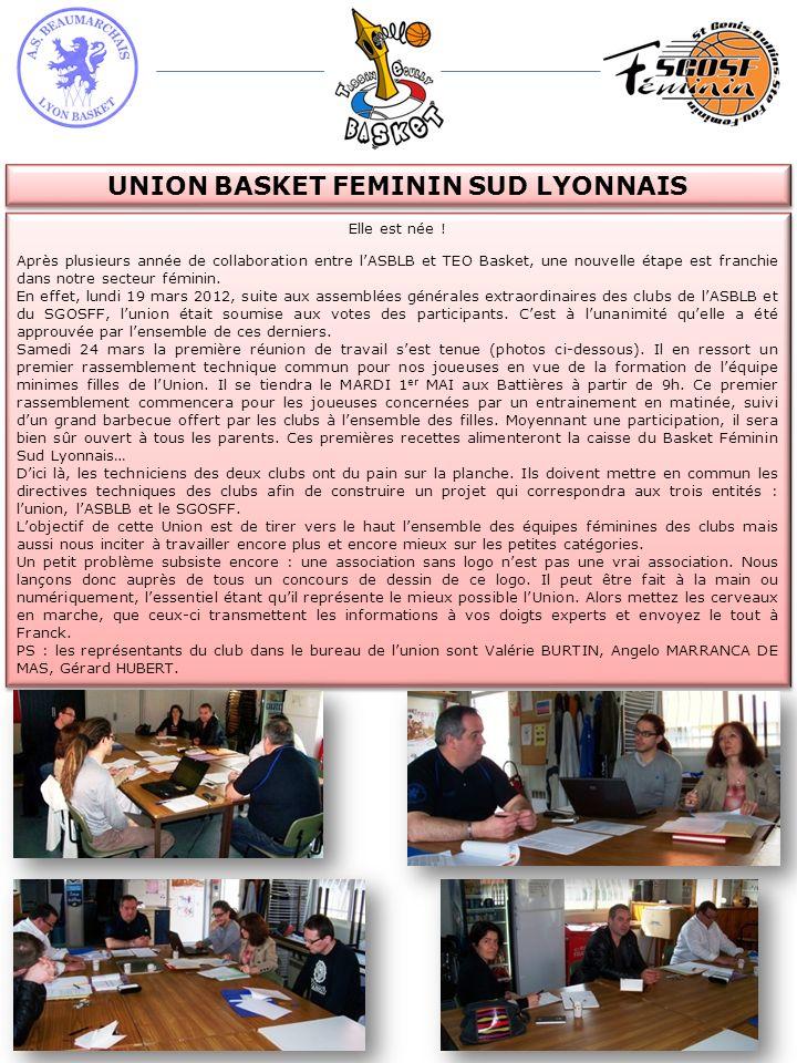 UNION BASKET FEMININ SUD LYONNAIS