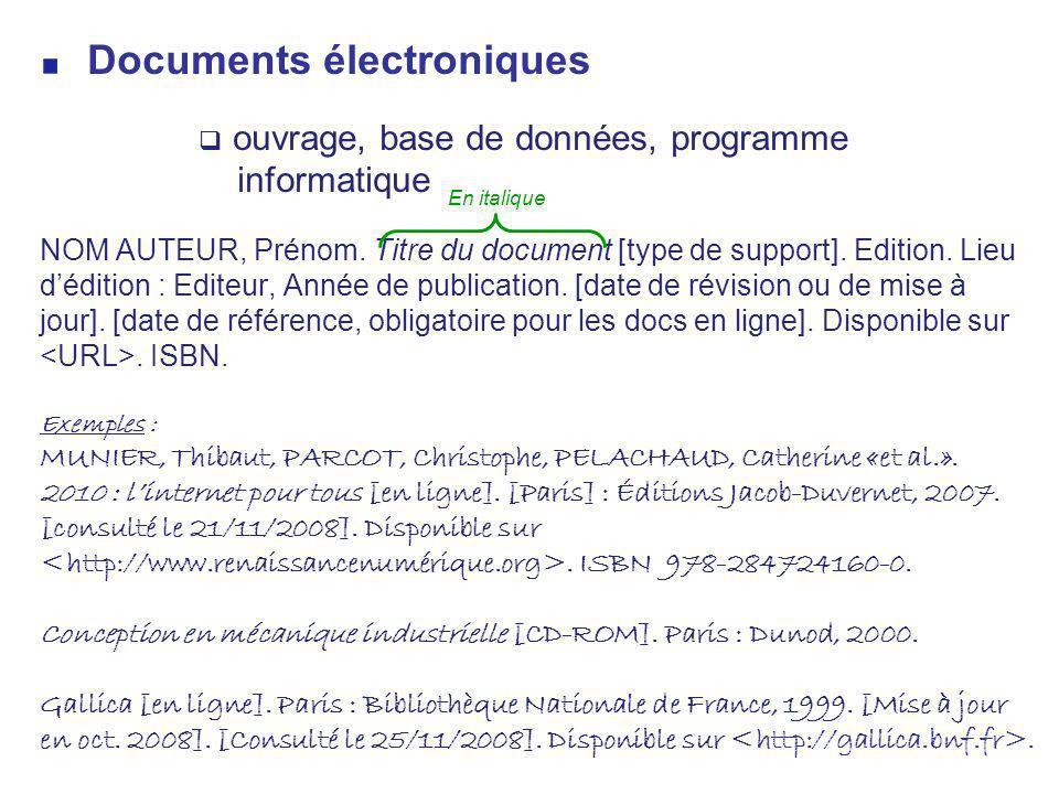 Documents électroniques
