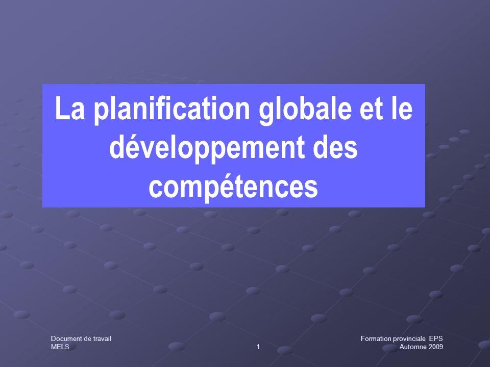 La planification globale et le développement des compétences