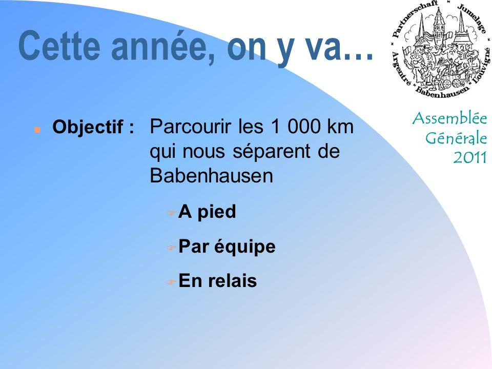Cette année, on y va… Objectif : Parcourir les 1 000 km qui nous séparent de Babenhausen. A pied.