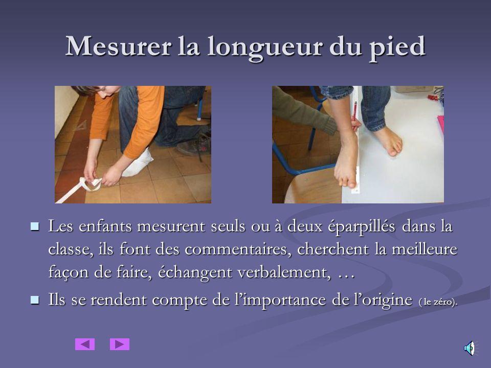 Mesurer la longueur du pied