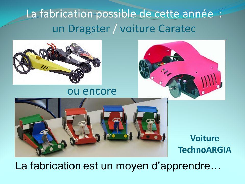 La fabrication possible de cette année : un Dragster / voiture Caratec