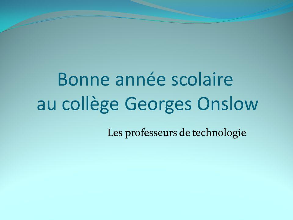 Bonne année scolaire au collège Georges Onslow