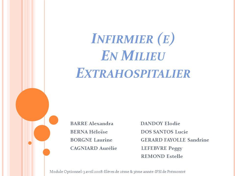 Infirmier (e) En Milieu Extrahospitalier