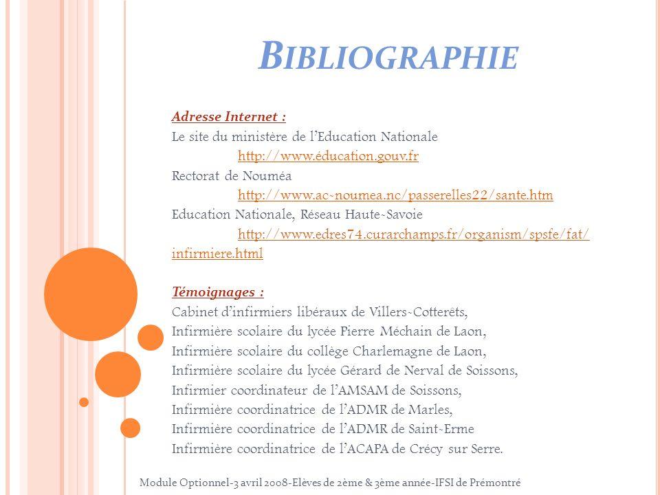 Bibliographie Le site du ministère de l'Education Nationale