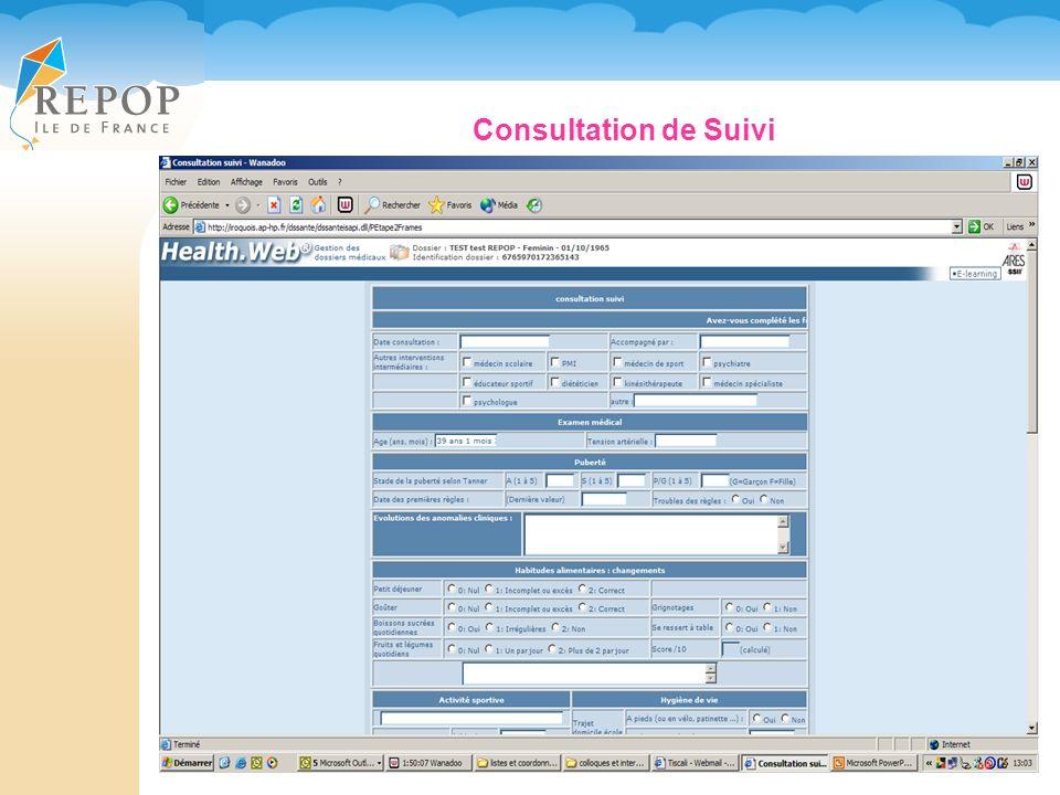 Consultation de Suivi