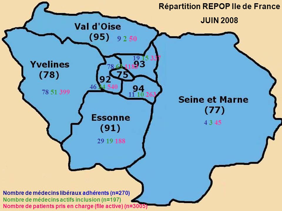 Répartition REPOP Ile de France