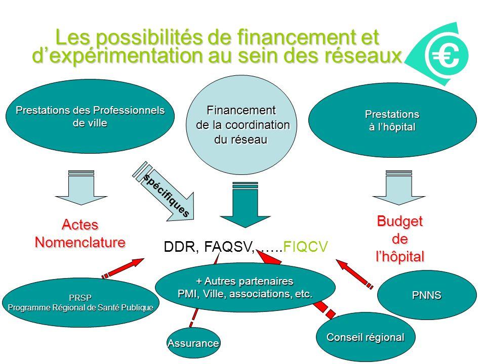 Les possibilités de financement et d'expérimentation au sein des réseaux