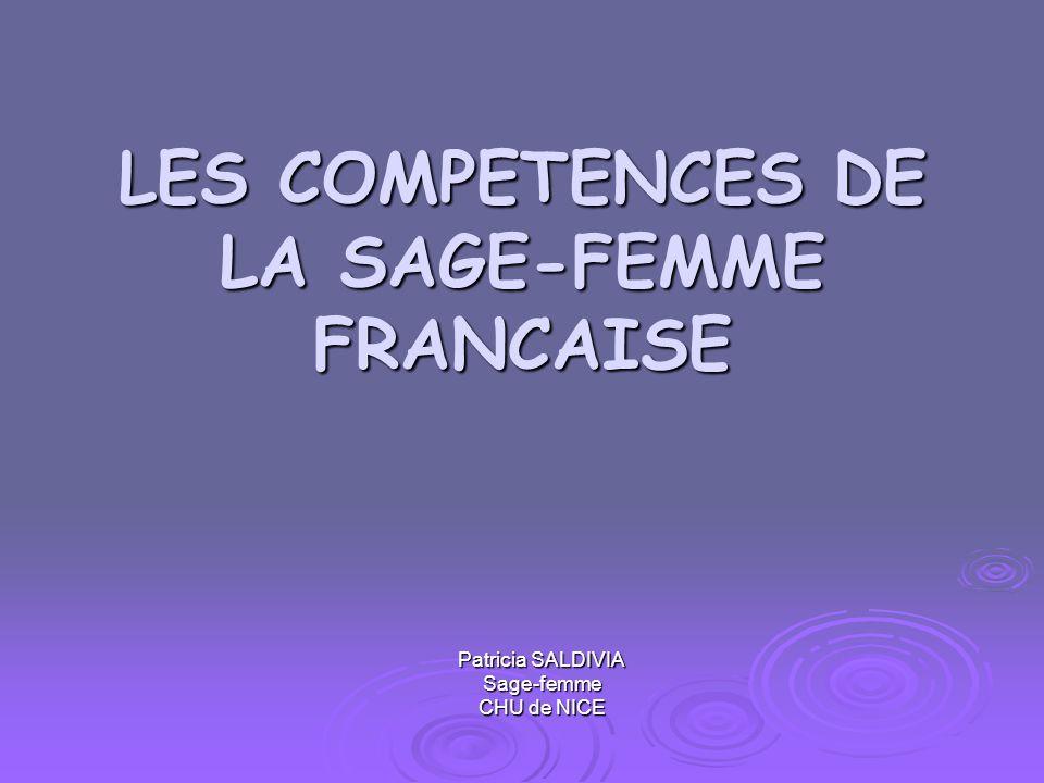 les competences de la sage-femme francaise