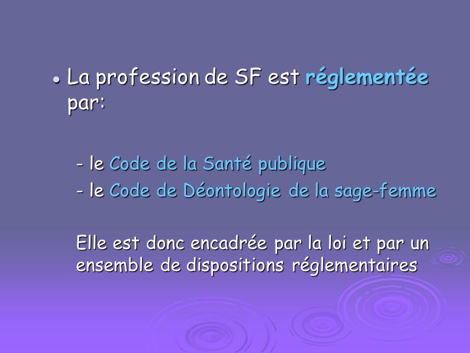 La profession de SF est réglementée par: