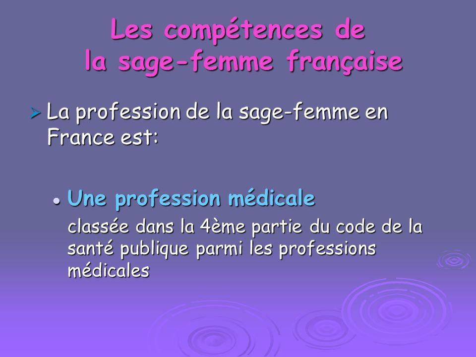 Les compétences de la sage-femme française