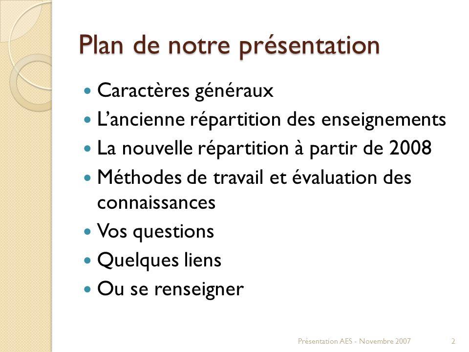 Plan de notre présentation