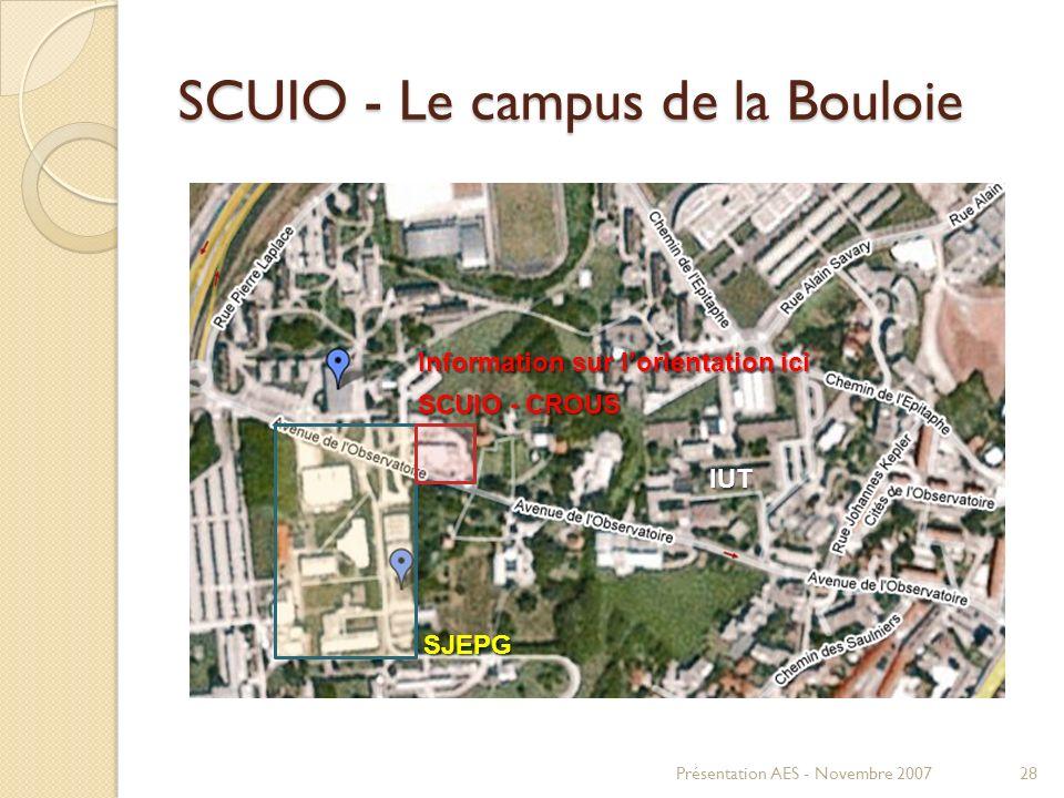 SCUIO - Le campus de la Bouloie