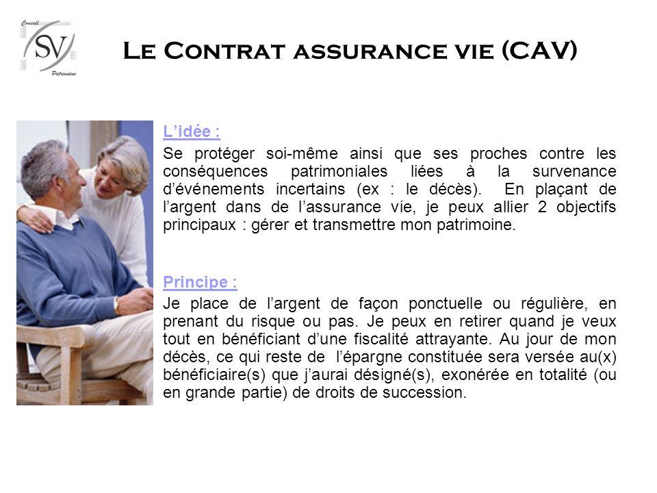 Le Contrat assurance vie (CAV)