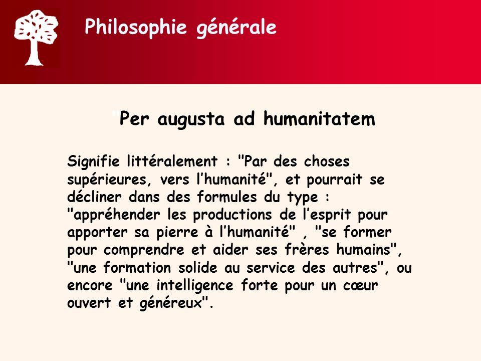 Per augusta ad humanitatem