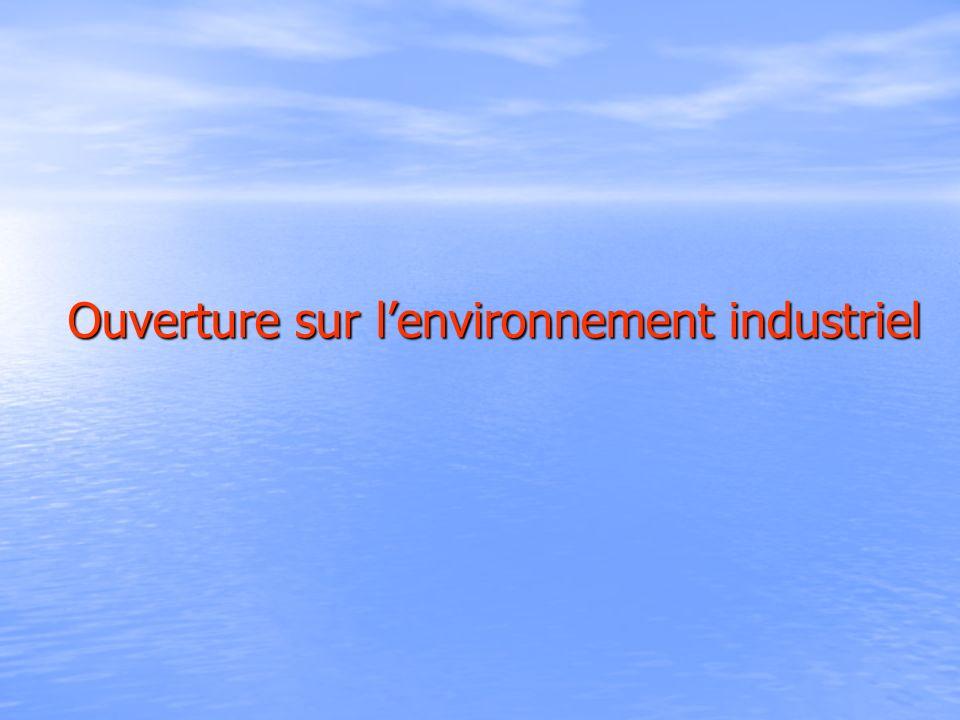 Ouverture sur l'environnement industriel