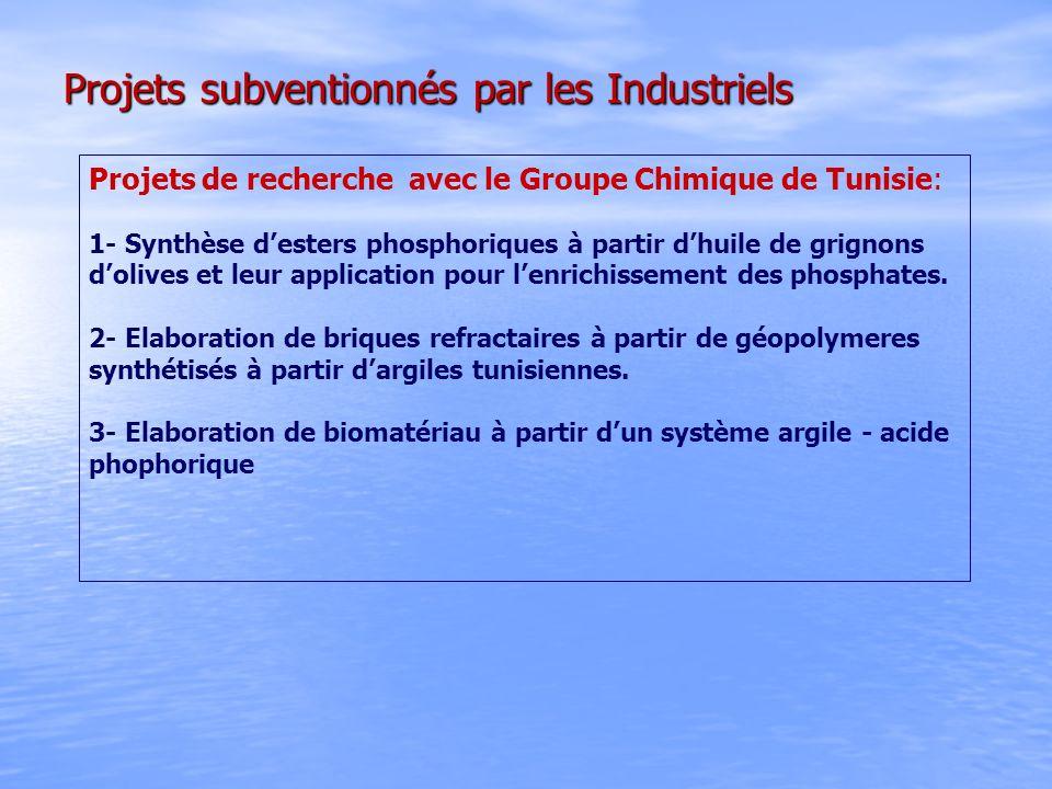Projets subventionnés par les Industriels