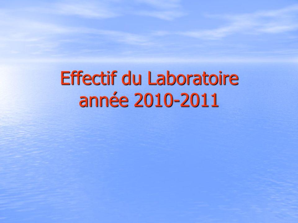 Effectif du Laboratoire année 2010-2011