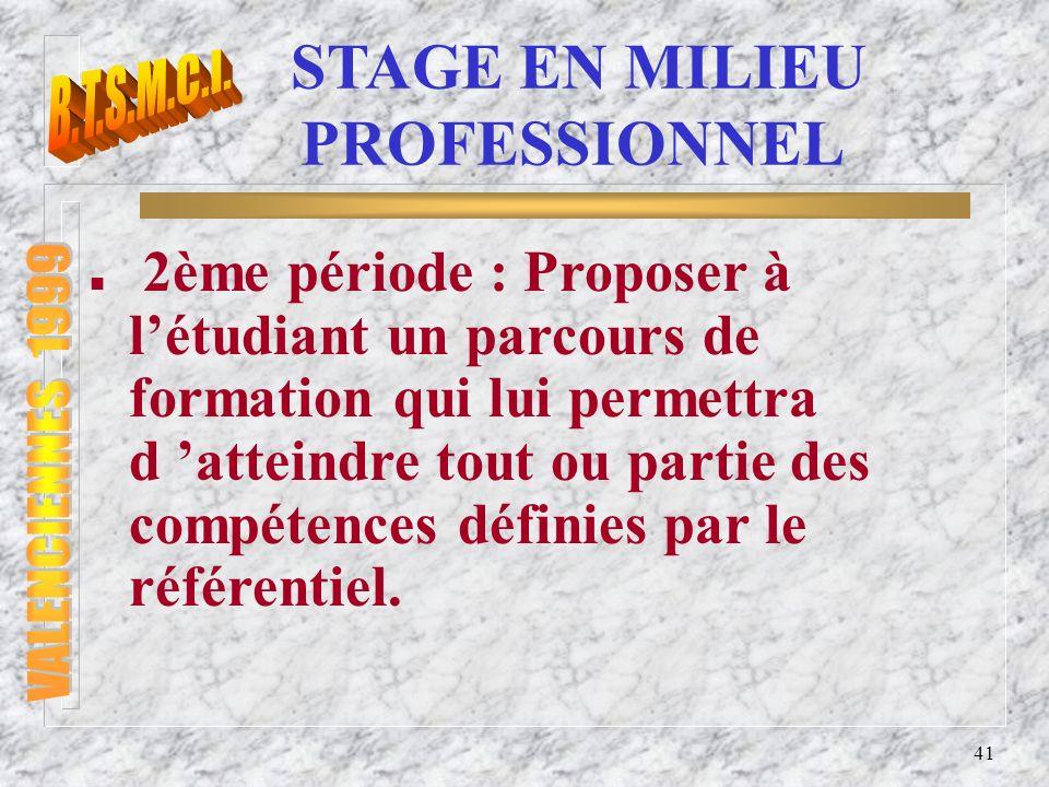 STAGE EN MILIEU PROFESSIONNEL
