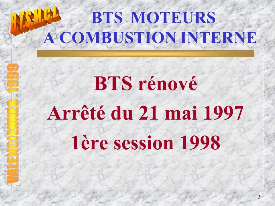 BTS MOTEURS A COMBUSTION INTERNE