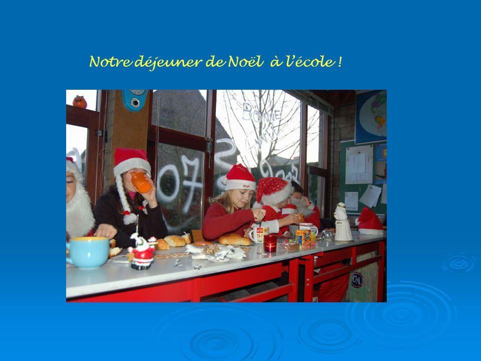 Notre déjeuner de Noël à l'école !
